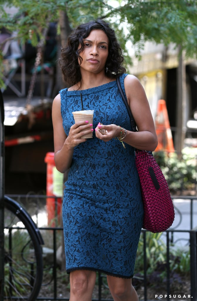 Rosario Dawson filmed scenes in NYC for Chris Rock's new project, Finally Famous!, on Tuesday.