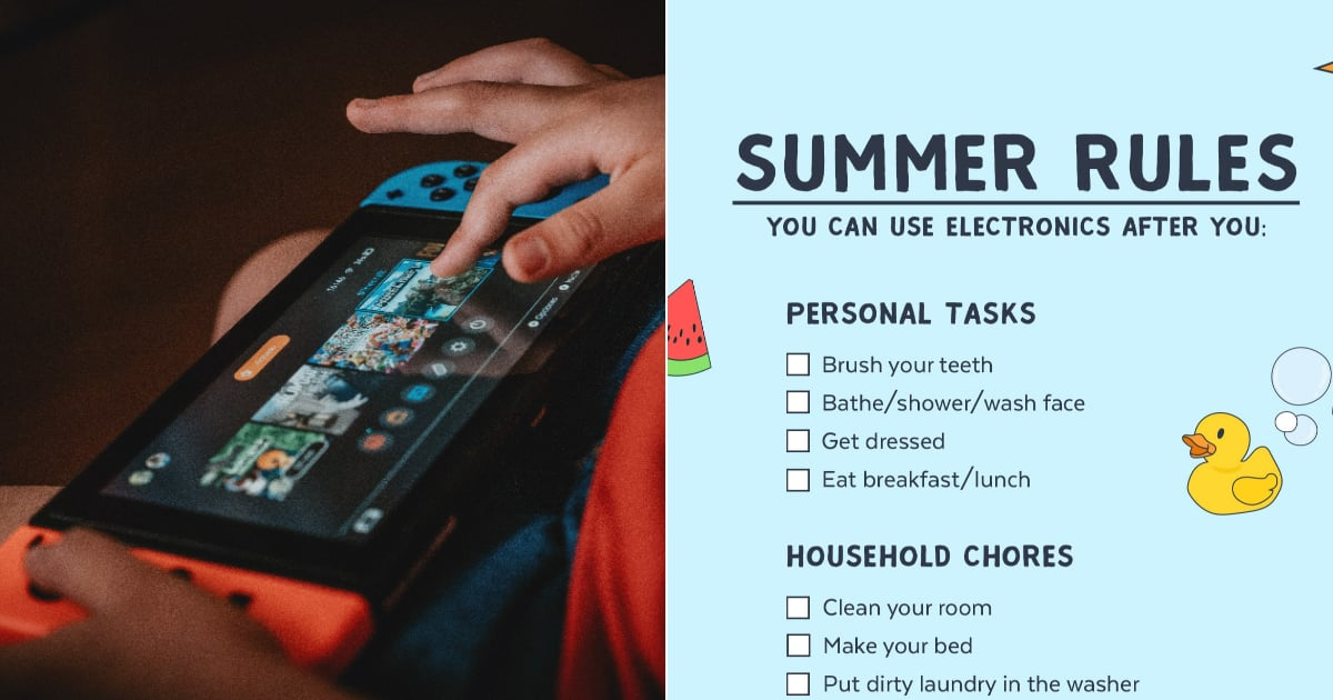 This Parenting Checklist Keeps Kids From Being Glued to Their Devices All Summer