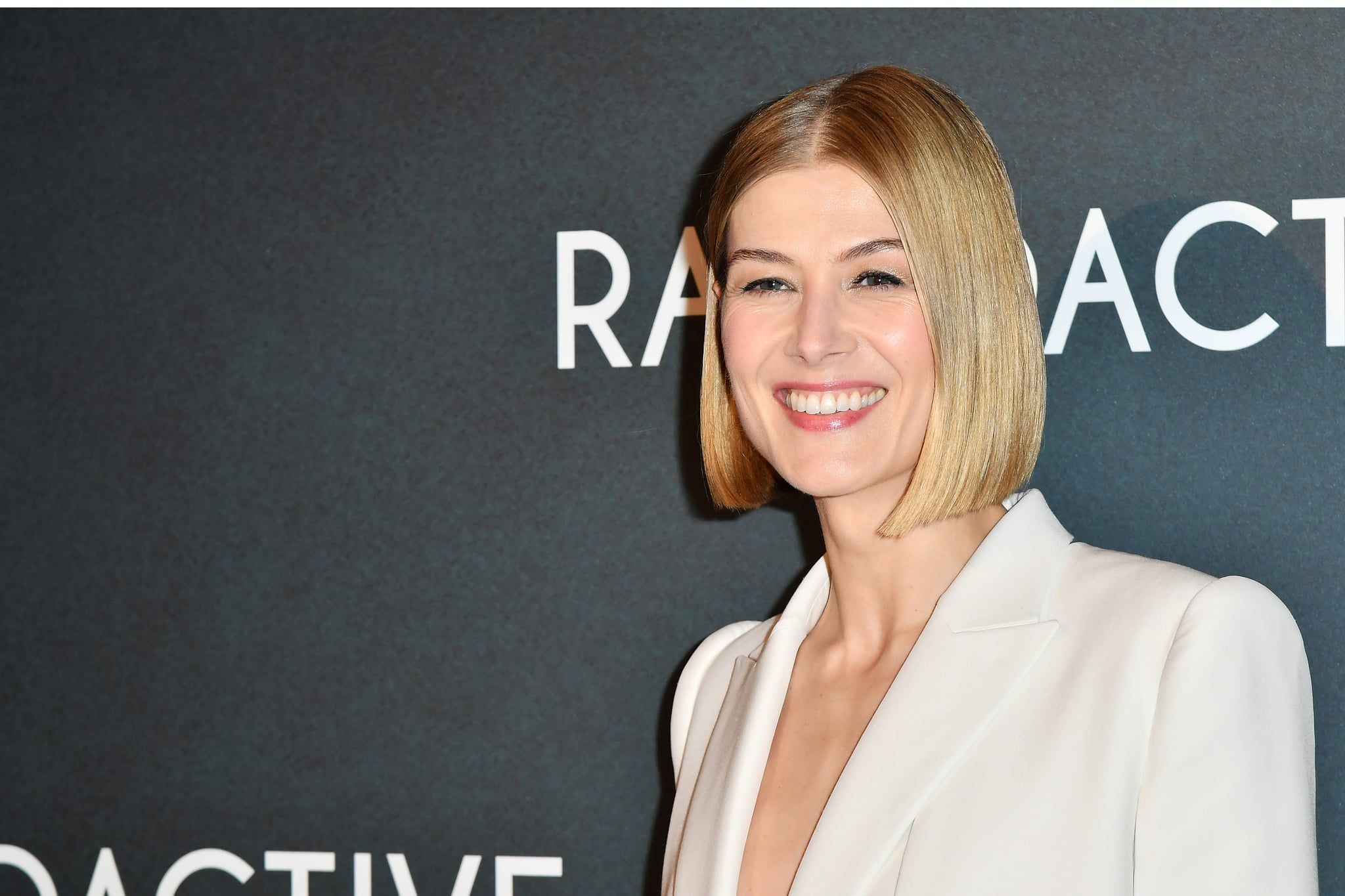 PARIS, FRANCE - FEBRUARY 24: Rosamund Pike attends the