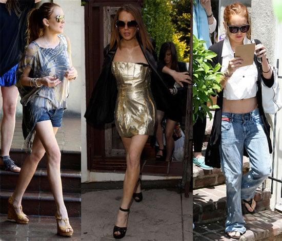 Photos of Lindsay Lohan in LA, En Route to Transformers 2 Premiere