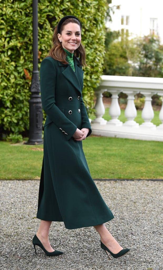 the duchess of cambridge a wears velvet headband in ireland popsugar fashion uk the duchess of cambridge a wears velvet