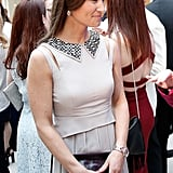 Pippa may go for sleek straight hair to style with a veil