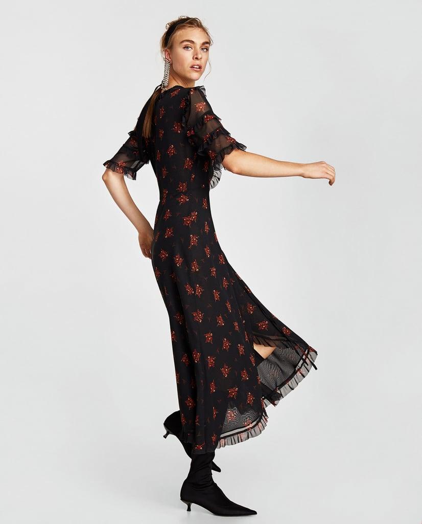 Zara Long Crossover Dress