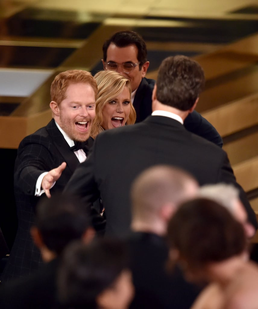 Jesse Tyler Ferguson and Julie Bowen got excited about their Modern Family win.