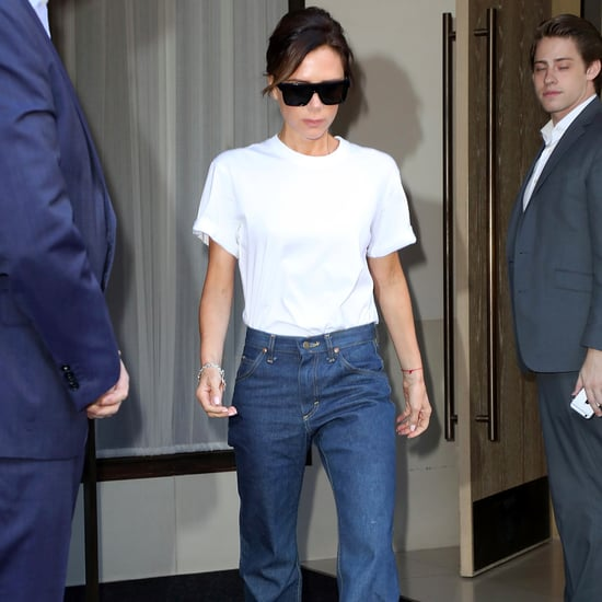 Victoria Beckham Flare Jeans at Fashion Week