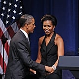 The first couple shared a moment at a DNC fundraiser.