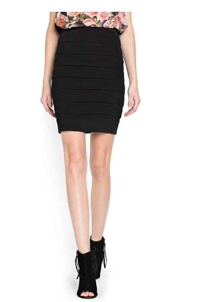 Mango's striped texture knit skirt ($45) was made to hug your curves.