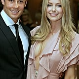 Jennifer had Jake's support at Myer's Winter fashion launch in Sydney in Feb. 2008.