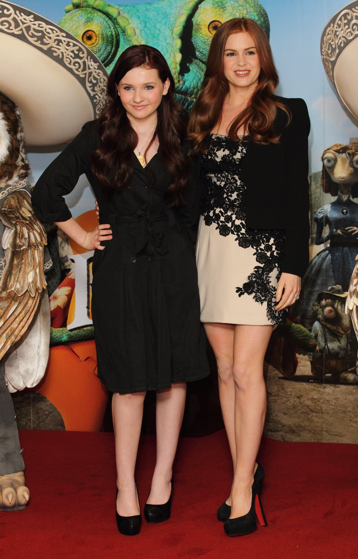 Isla and Abigail Bring Their Western to London at a Rango Photo Call