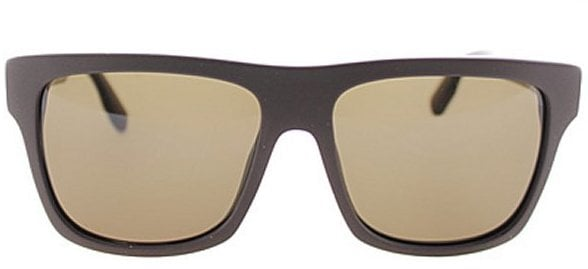 McQ Alexander McQueen 0023 FYW Matte Brown Plastic Rectangle Flat Top Sunglasses Brown Lens ($115)