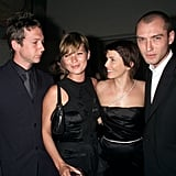 Kate Moss and Sadie Frost have been close for years, and when Sadie and ex-husband Jude Law welcome their daughter Iris in 2000, they chose the supermodel to be the baby girl's godmother. Kate returned the favor a year later when she named Jude and Sadie as godparents of her now 11-year-old daughter Lila Grace, whose father is editor Jefferson Hack.