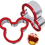 Hibery Two-Pack Stainless Steel Mickey Mouse Cookie Cutter