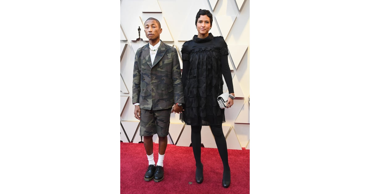 Pharrell Williams and Helen Lasichanh at the 2019 Oscars ...