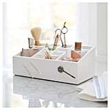 12 Compartment Vanity Organiser in White