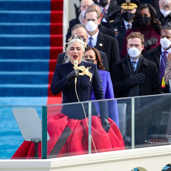 Lady Gaga Wore Custom Schiaparelli on Inauguration Day