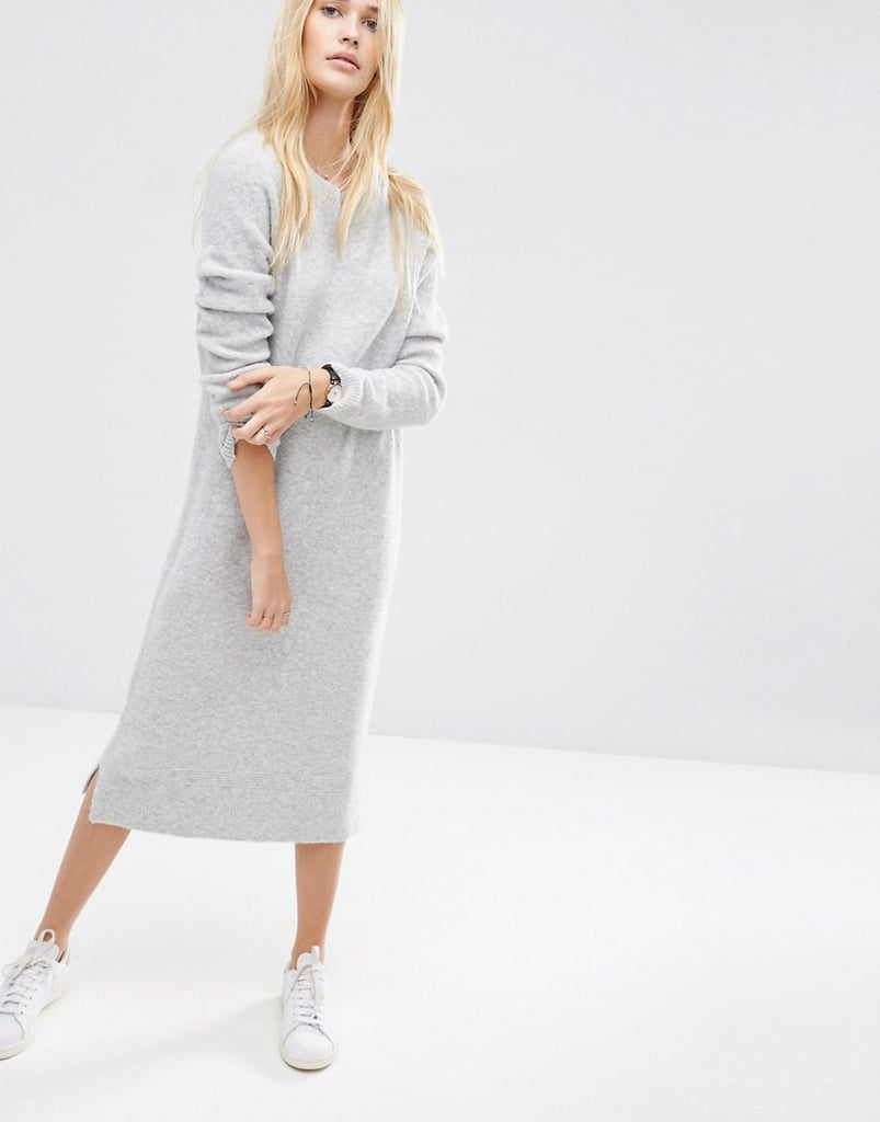 ff2a4776cecc Midi Jumper Dress in Wool Mix Yarn, $91 | Where to Buy Knitted ...