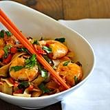 Shrimp, Cilantro, and Rice Noodle Stir-Fry