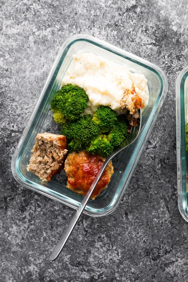 Low-Carb Meatloaf and Cauliflower Mash