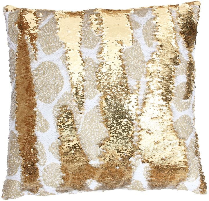 Thro Georgina Giraffe Reversible Sequin Square Throw Pillow ($47)