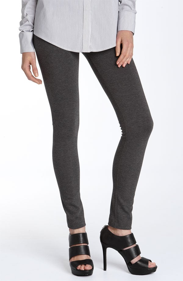 """""""A draped silk tunic can be a great weekend option when paired with sleek ponte leggings."""""""
