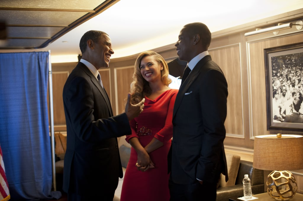 Beyoncé and Jay Z were all smiles when the couple hosted a fundraiser for President Obama in New York in September 2012.