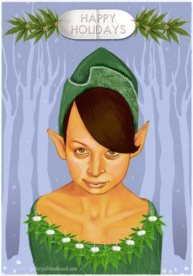 Elfin Nicole Richie Wishes You a Merry Christmas