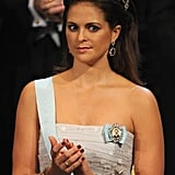 The princess gave a priceless look during the 2012 Nobel Prize award ceremony concert in Stockholm.
