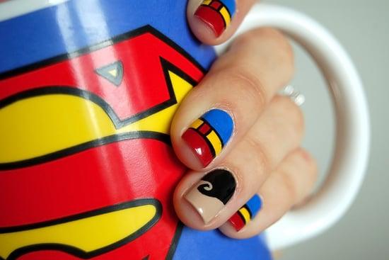 - Superman Nail Art POPSUGAR Beauty