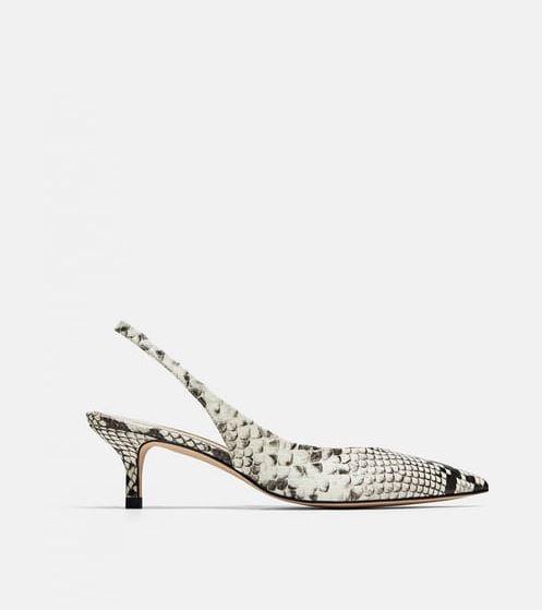 bf84d4e29b7 Zara Leather Slingback Shoes ( 99)