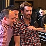 Drew Scott, Jonathan Scott, and David Visentin