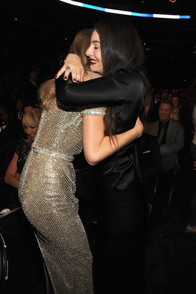 Lorde and Taylor Swift shared a sweet hug in the audience at the 2014 show.