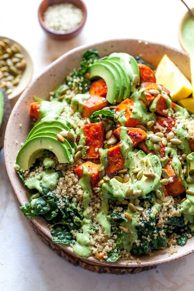 Harissa Roasted Sweet Potato Power Salad