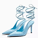 Topshop Florence Blue Pointed Heels