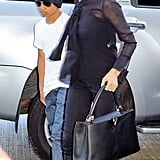 Angelina Jolie and Maddox arrived at LAX.