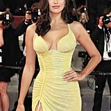 Irina Shayk Yellow Versace Dress at Cannes