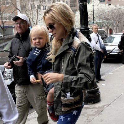Kate Hudson With Her Son Bingham in NYC