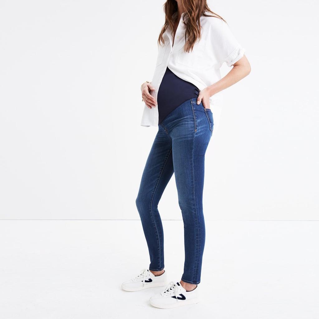 c90af4afe9861 Madewell Maternity Over-the-Belly Skinny Jeans | Designer Maternity ...
