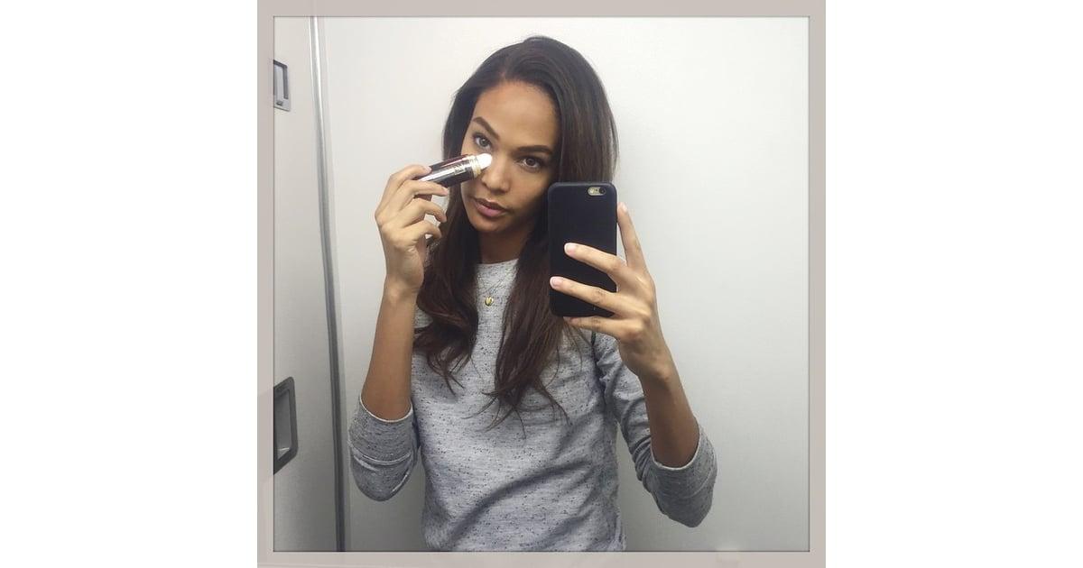 Airplane Bathroom Mirror Selfie