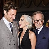 Bradley and Gaga were so engrossed in each other, Steven Spielberg had to play the third wheel.