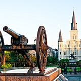 Travel through time at Jackson Square in New Orleans.