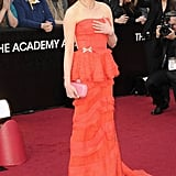 Michelle Williams stopped to pose for photos on the red carpet.