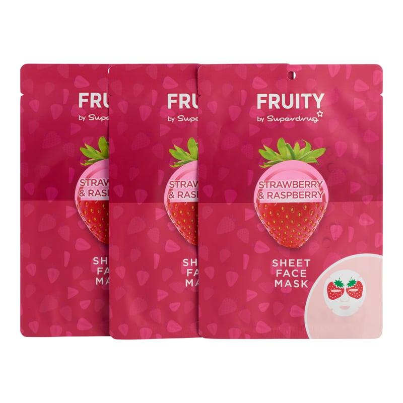 Superdrug Fruity Set Of 3 Sheet Masks