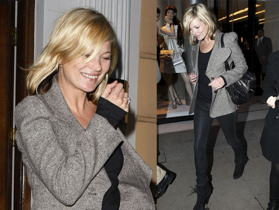 Photos of Kate Moss, Who Might Want to Act But Won't Be Perfoming With the Kills, Shopping at Vivienne Westwood