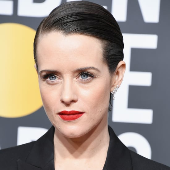 Claire Foy Golden Globes Red Carpet Beauty Look 2018