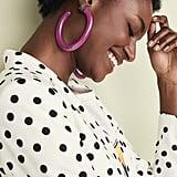 BaubleBar Pernille Resin Hoop Earrings
