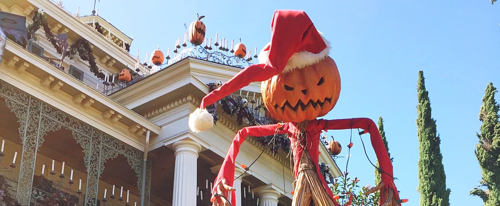 Disneyland Haunted Mansion as Nightmare Before Christmas