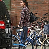 Katie Holmes was solo for a stroll in NYC.