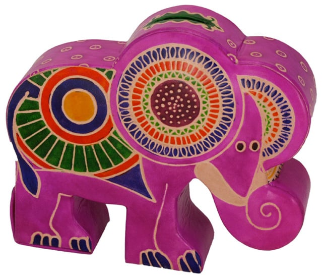 Penny Pachyderm Cruelty-Free Leather Elephant Bank ($13)