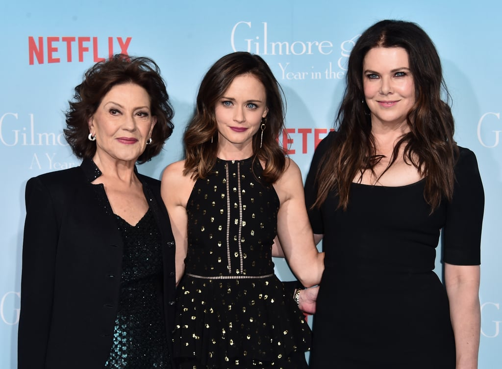 "Alexis Bledel was on hand for Netflix's premiere of Gilmore Girls: A Year in the Life in LA on Friday night. The 35-year-old actress looked gorgeous in a black gown as she posed for pictures on the red carpet alongside Lauren Graham, Kelly Bishop, and the rest of the show's cast. The highly anticipated reboot premieres on Nov. 25, and one of the things we're most looking forward to is seeing who Rory ends up with. Over the Summer at TCA, Alexis, who plays Rory, touched on Rory's love life a little, saying, ""We're not supposed to discuss where we pick up with her romantically, but all of her ex-boyfriends make an appearance in these chapters in one way or another.""        Related:                                                                                                           Gilmore Girls: Every Trailer and Teaser for Netflix's Reboot in 1 Easy Place"