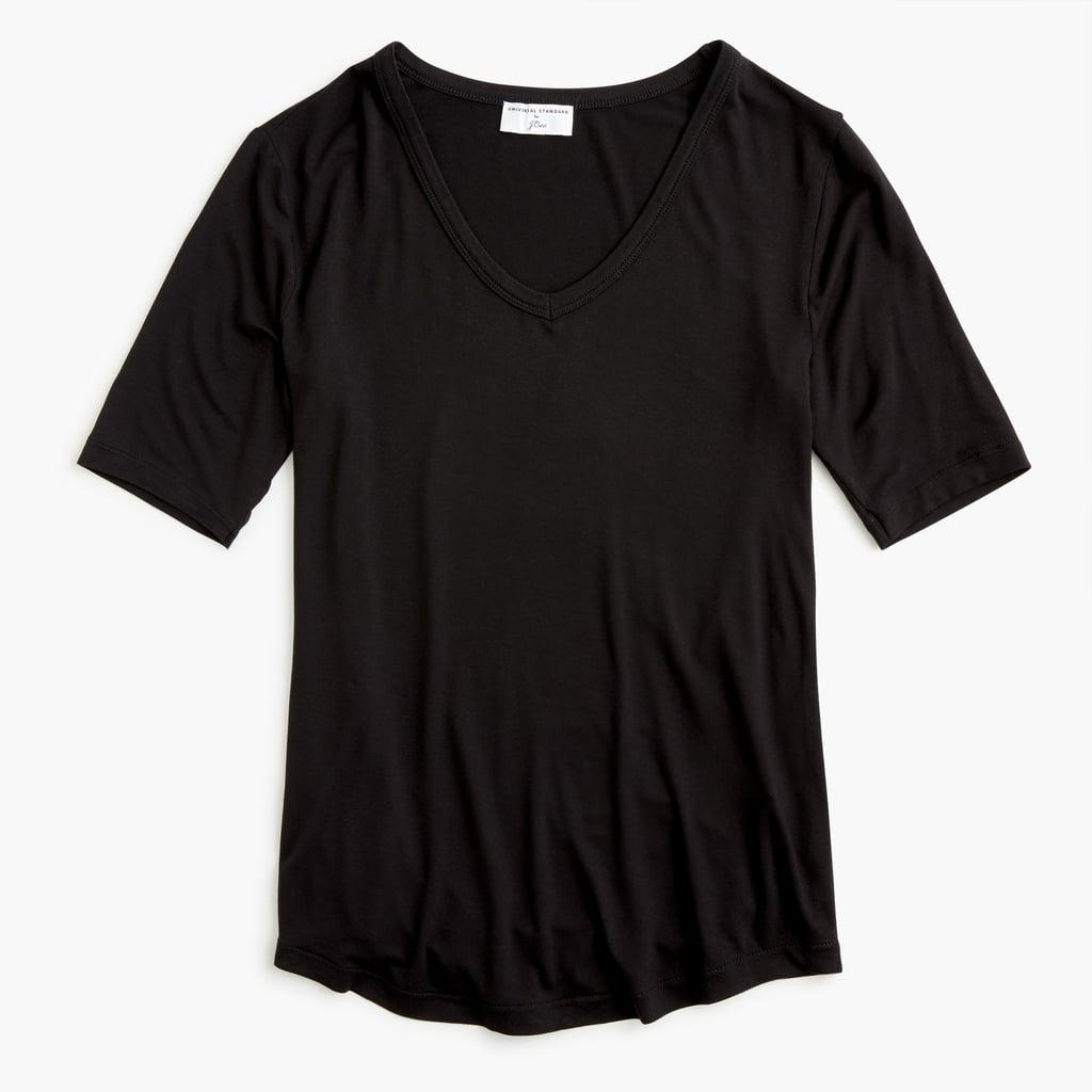 Universal Standard x J.Crew Jersey V-neck T-shirt